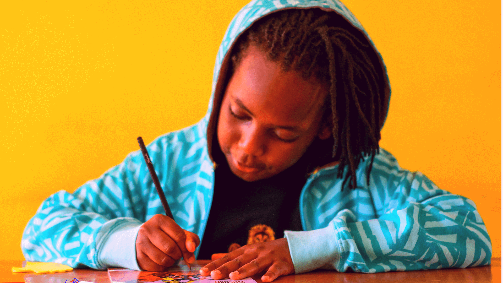 African Boy Writing